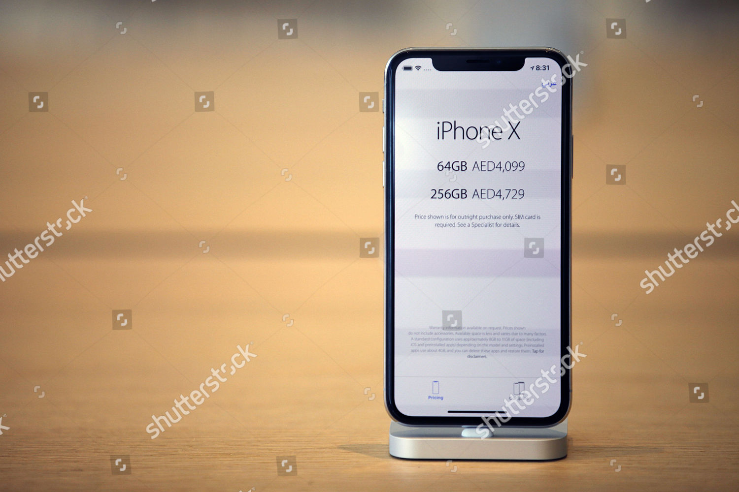 new iPhone X displayed Apple store during Editorial Stock Photo