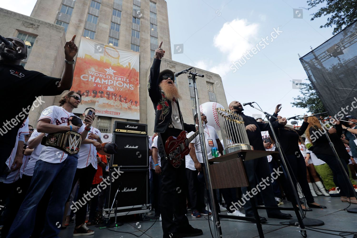 ZZ Tops Billy Gibbons performs Houston Astros Editorial