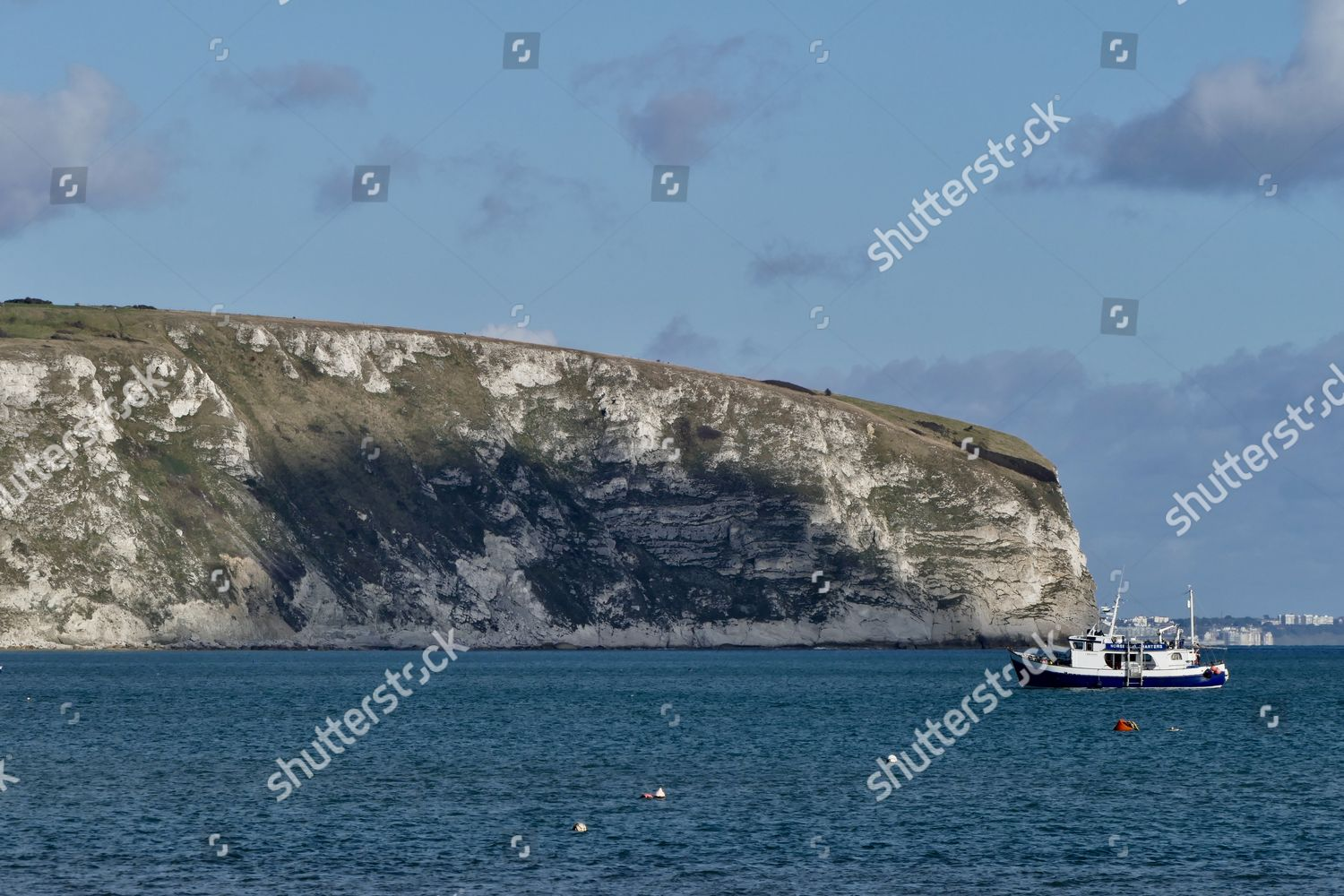 Ballard Down sunshine Dorset Editorial Stock Photo - Stock