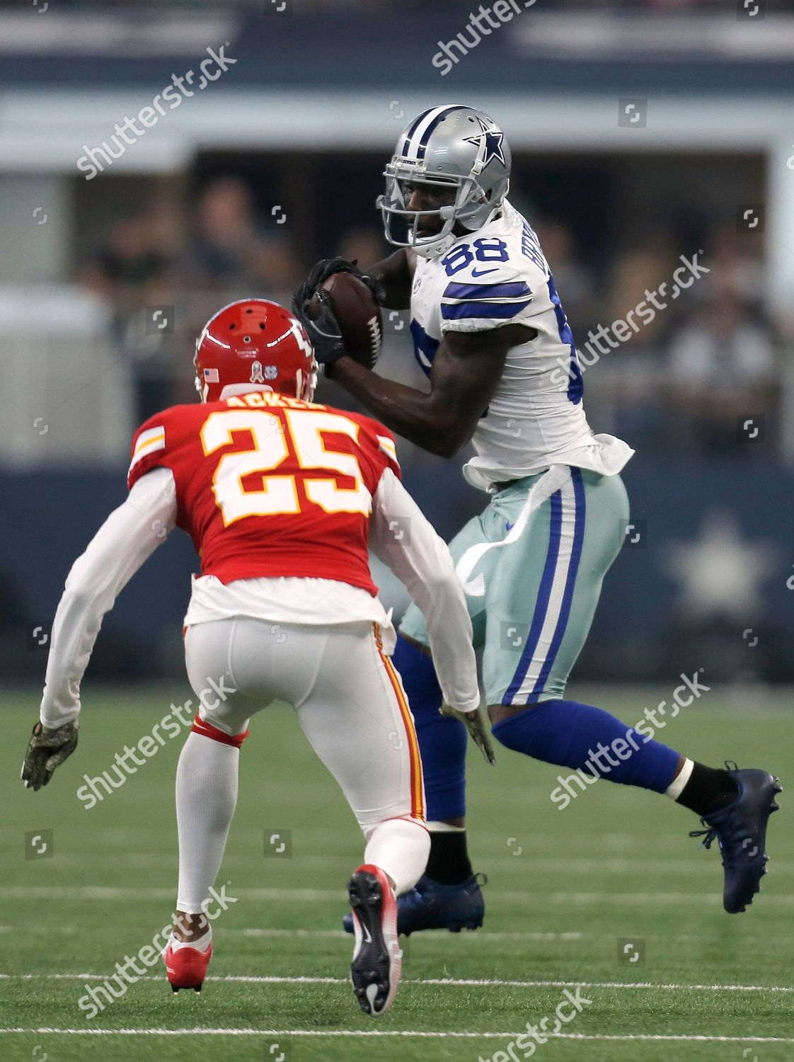 Kenneth Acker Dez Bryant Kansas City Chiefs Editorial Stock