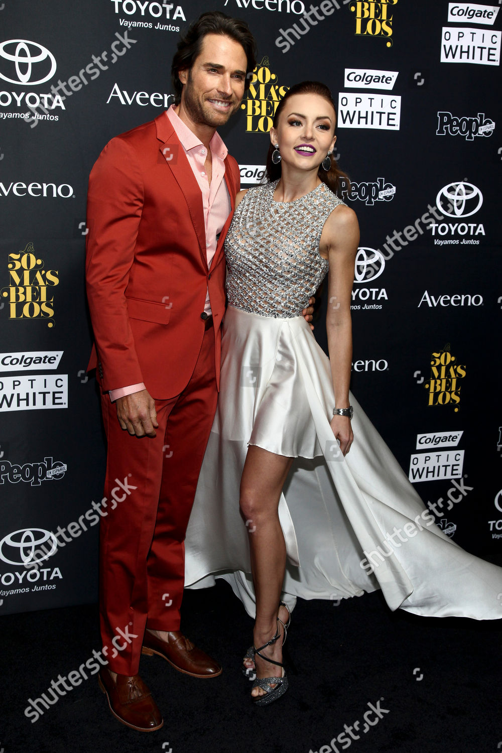 Angelique Boyer sebastian rulli left angelique boyer right attend editorial