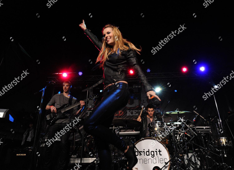 Editorial Stock Photo Of Brigit Mendler Performs Rock Red Kettle