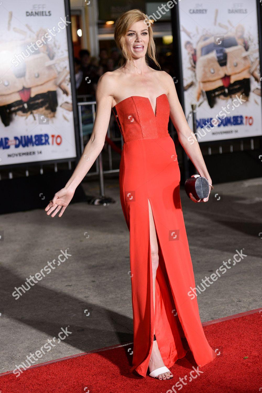 Rachel Melvin arrives LA Premiere Dumb Dumber Editorial