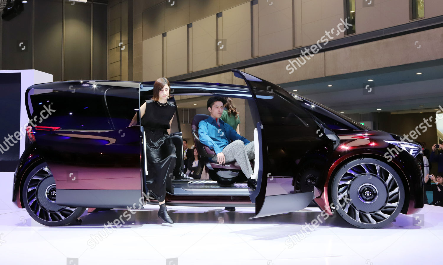 Stock photo of Tokyo Motor Show press preview, Japan - 26 Oct 2017
