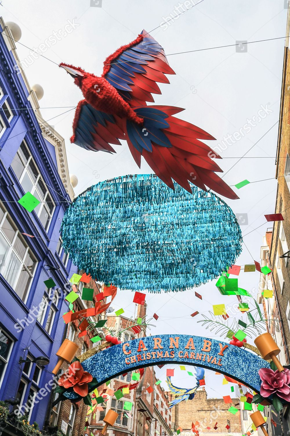 London Carnaby Street Christmas Decorations Carnival Theme
