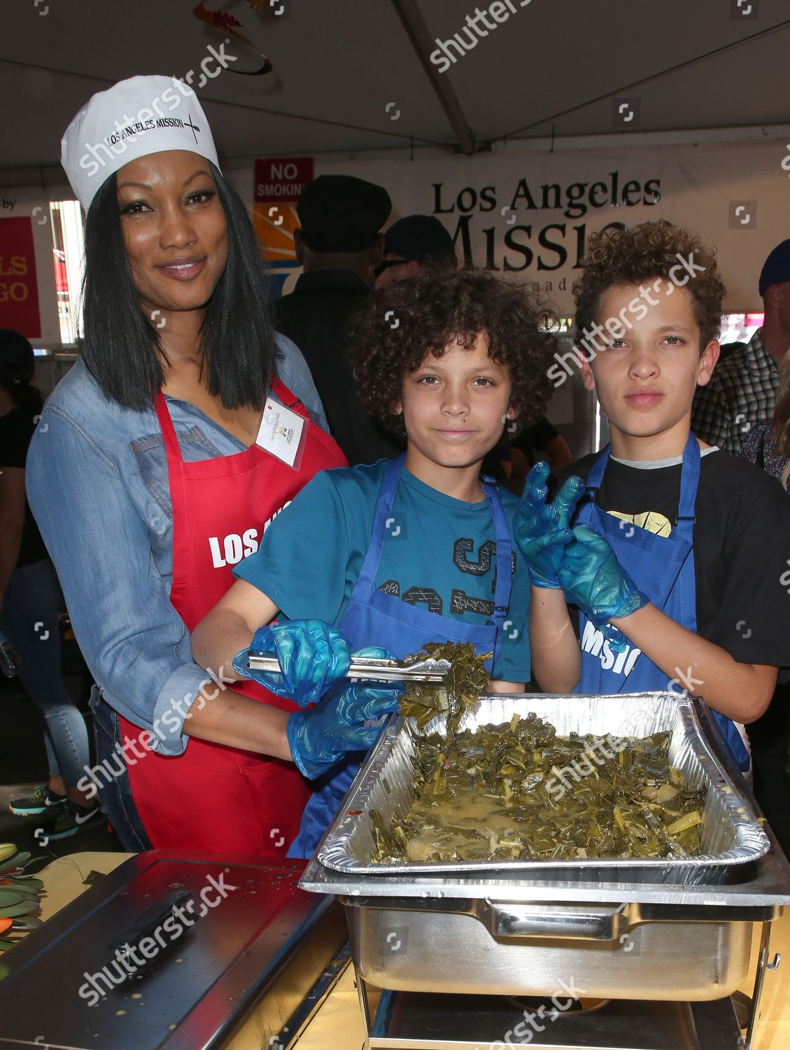 Stock photo of Los Angeles Mission Annual Thanksgiving for the Homeless, Los Angeles, USA - 22 Nov 2017