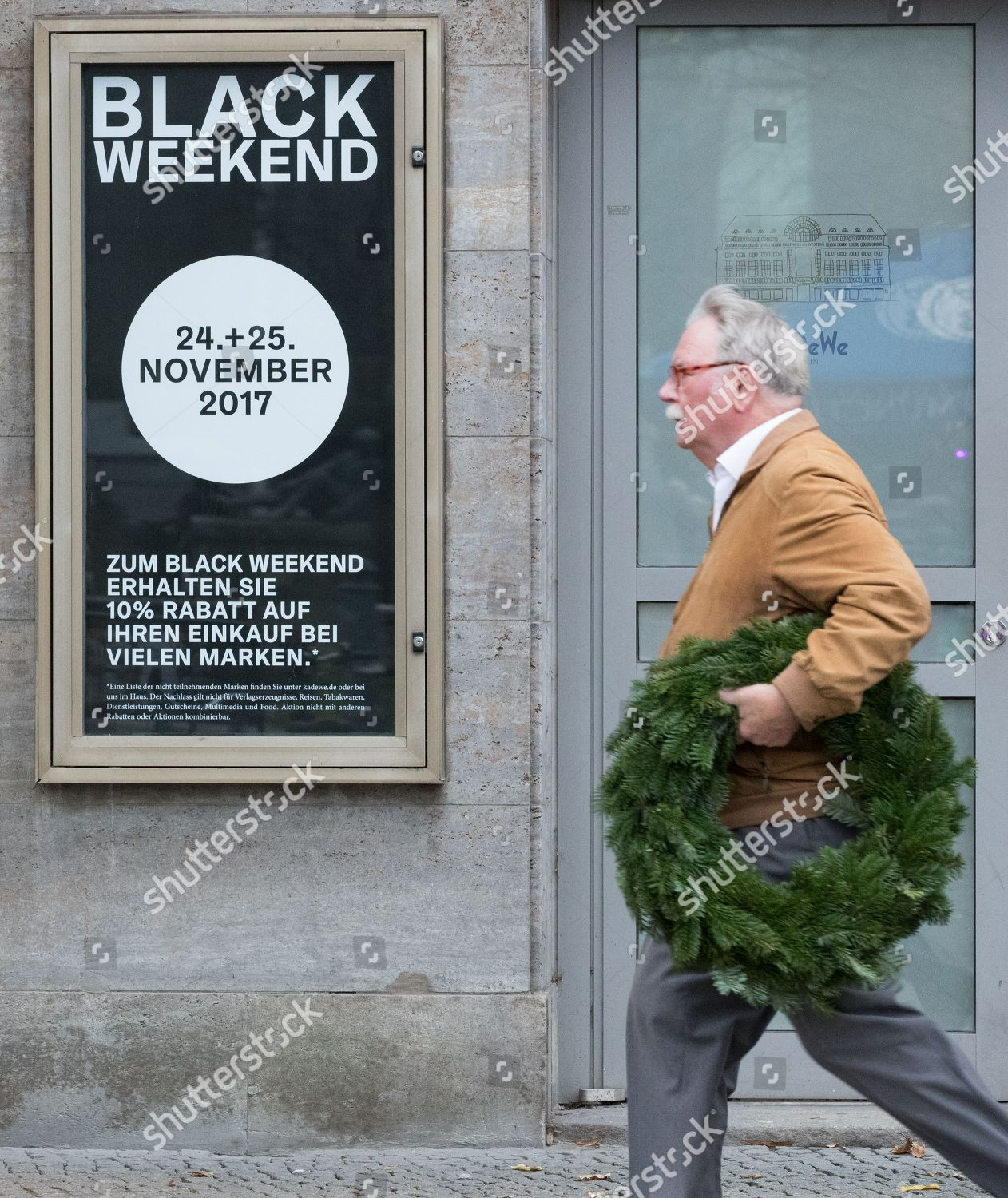 Shopper Walks Past Store Offering Black Friday Editorial Stock Photo Stock Image Shutterstock