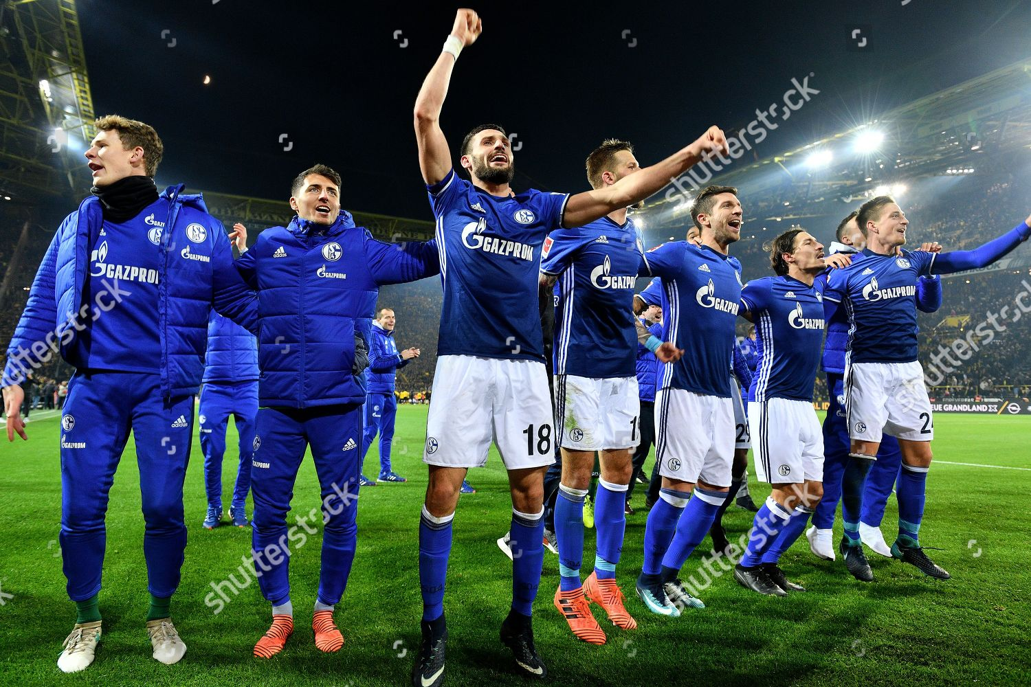 Players Schalke Celebrate After German Bundesliga Soccer Editorial Stock Photo Stock Image Shutterstock