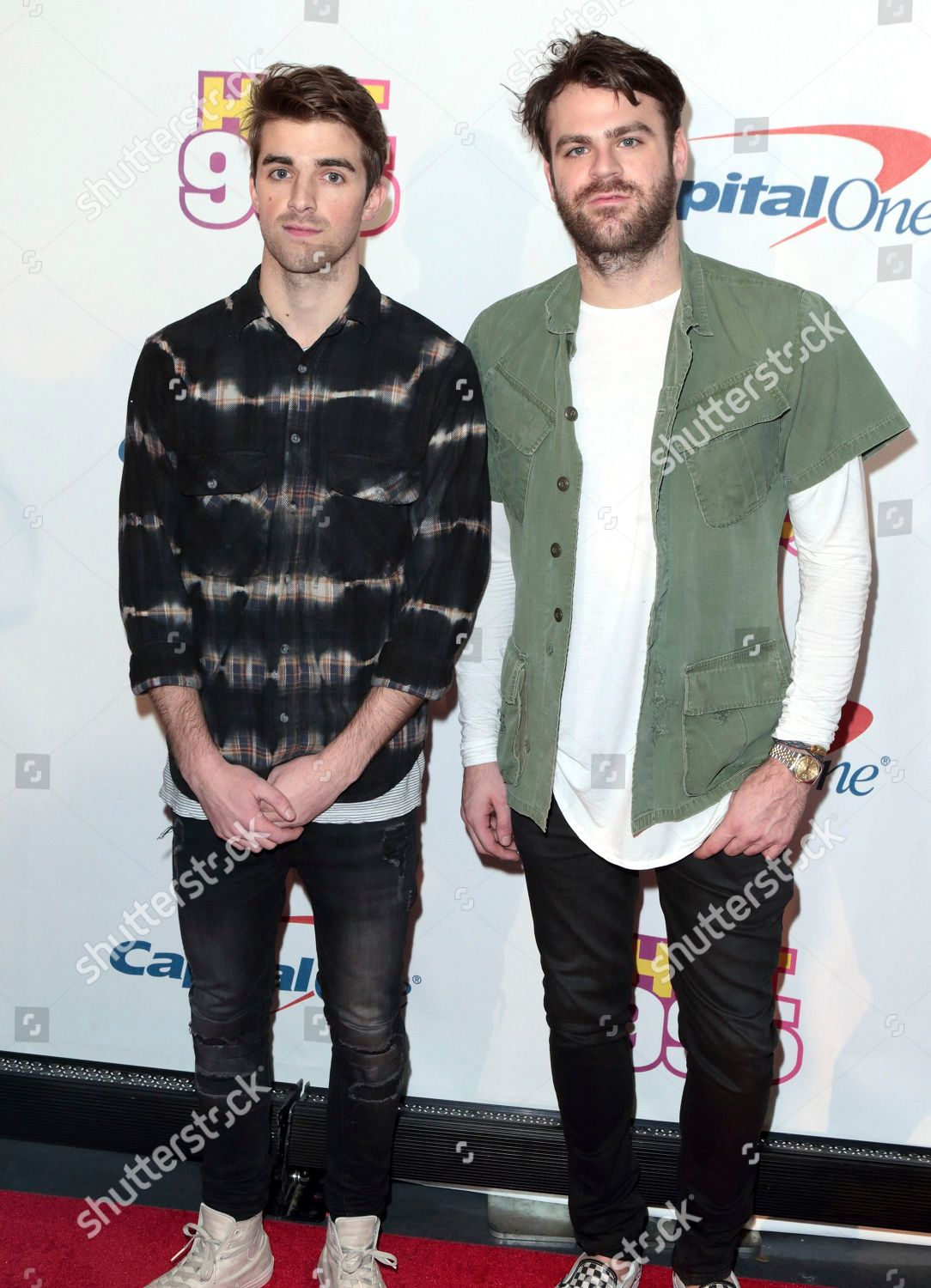 Andrew Taggart Left Alex Pall Band Chainsmokers Editorial Stock