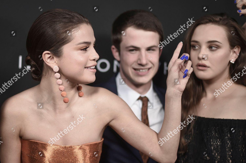 Selena Gomez left Dylan Minnette Katherine Langford