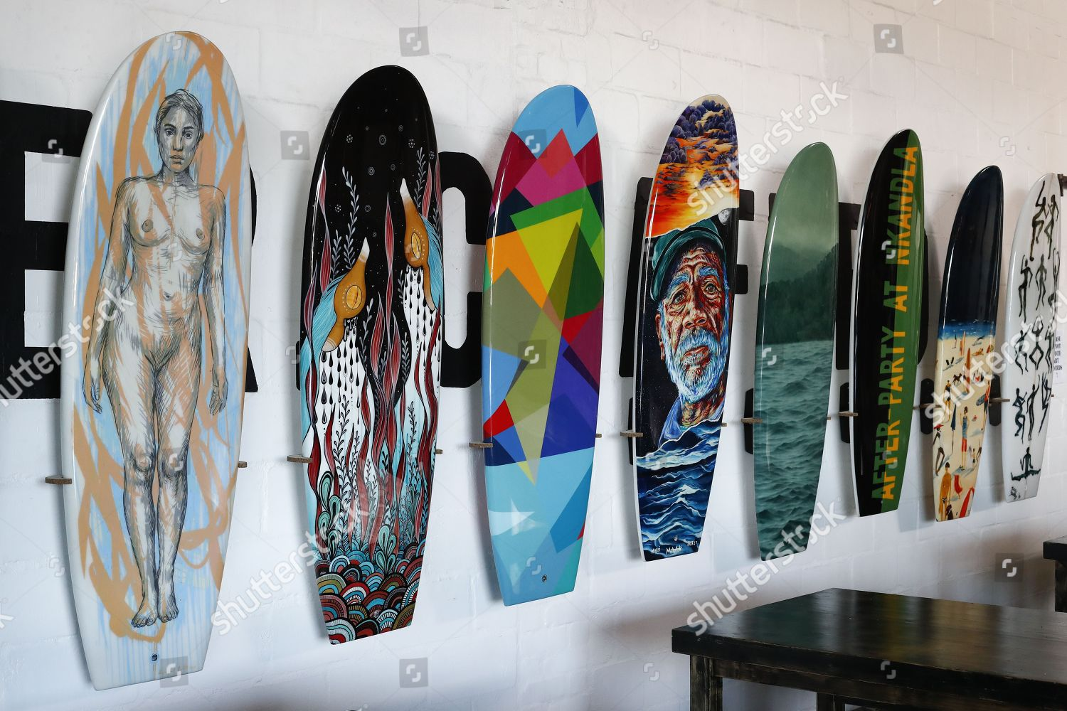 Surfboards Painted By Various Artists Exhibited Ahead Editorial