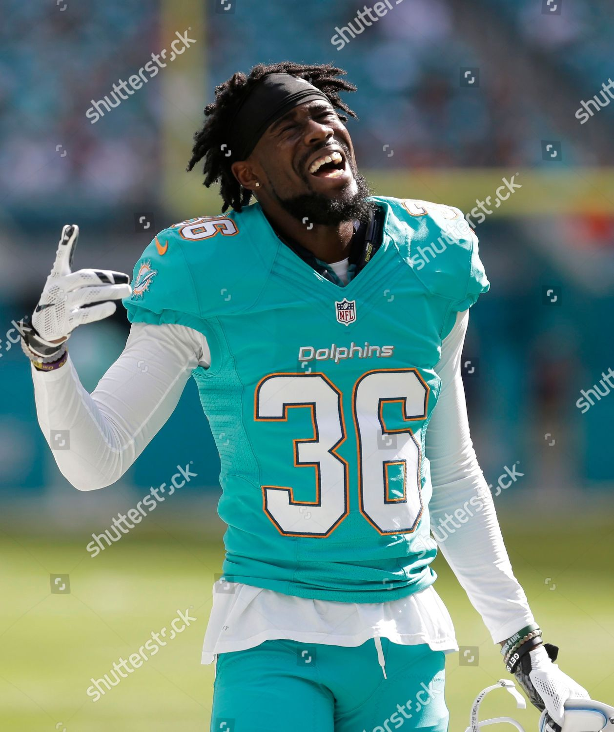 check out 2f06d 669a6 Miami Dolphins cornerback Tony Lippett 36 gestures Editorial ...