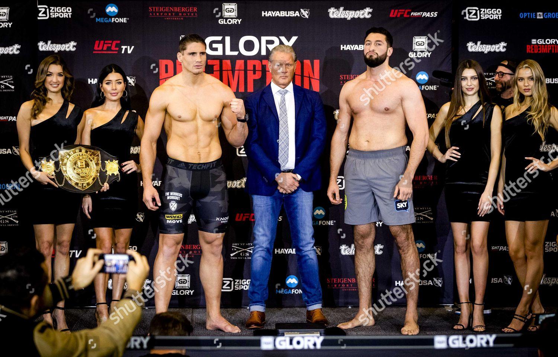 Kickboxers Rico Verhoeven L Jamal Ben Saddik Editorial Stock Photo