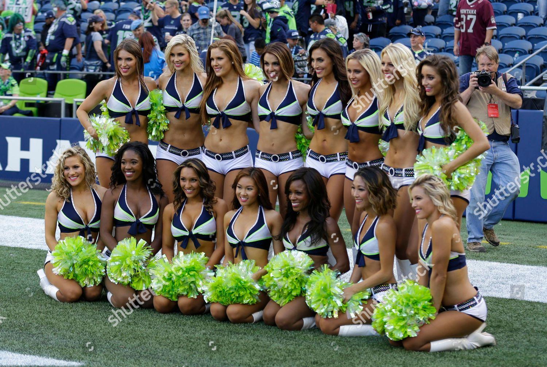 Seattle Seahawks Sea Gals Cheerleaders Pose Group Editorial