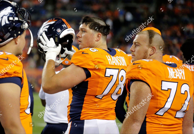 big sale c4146 c1cd4 Aaron Neary Lars Hanson Denver Broncos offensive Editorial ...