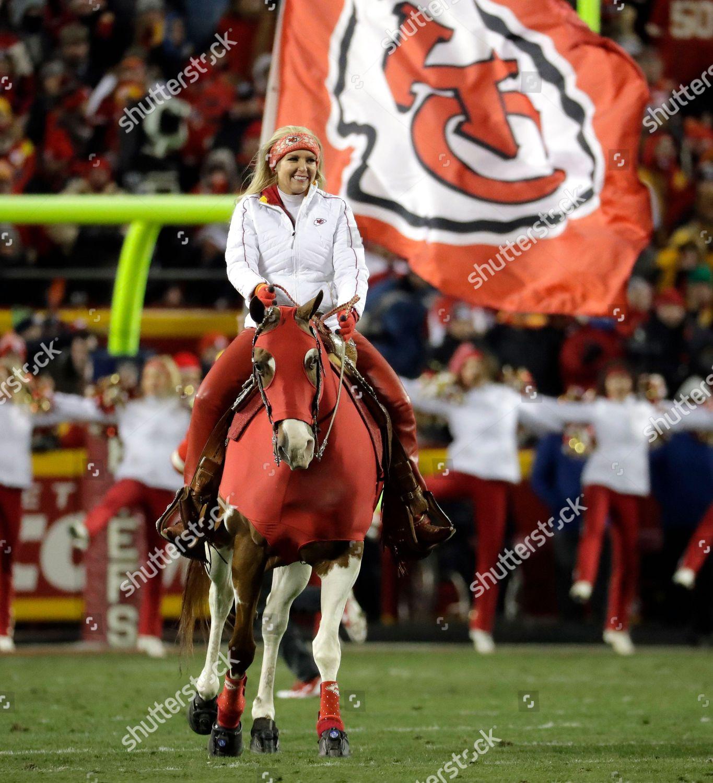 Kansas City Chiefs Mascot Warpaint Gallops Arrowhead Editorial Stock Photo Stock Image Shutterstock