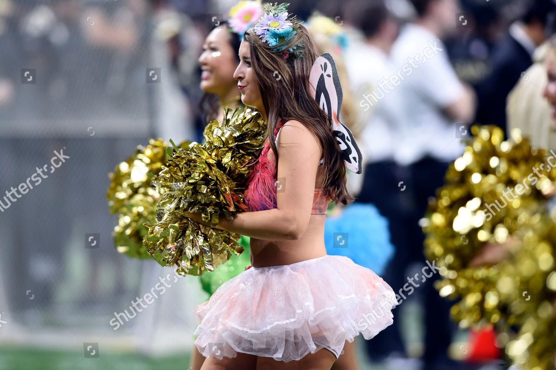 New Orleans Saints Cheersleaders Wear Halloween Costumes