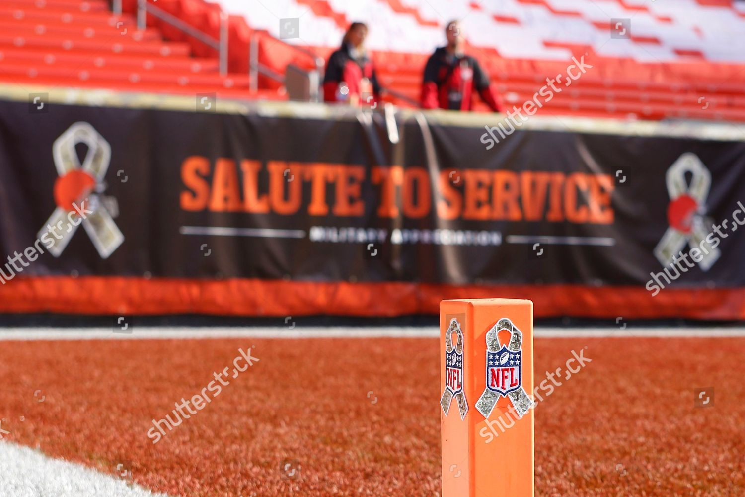 promo code 539eb a3349 Salute Service ribbon displayed on End Zone Editorial Stock ...