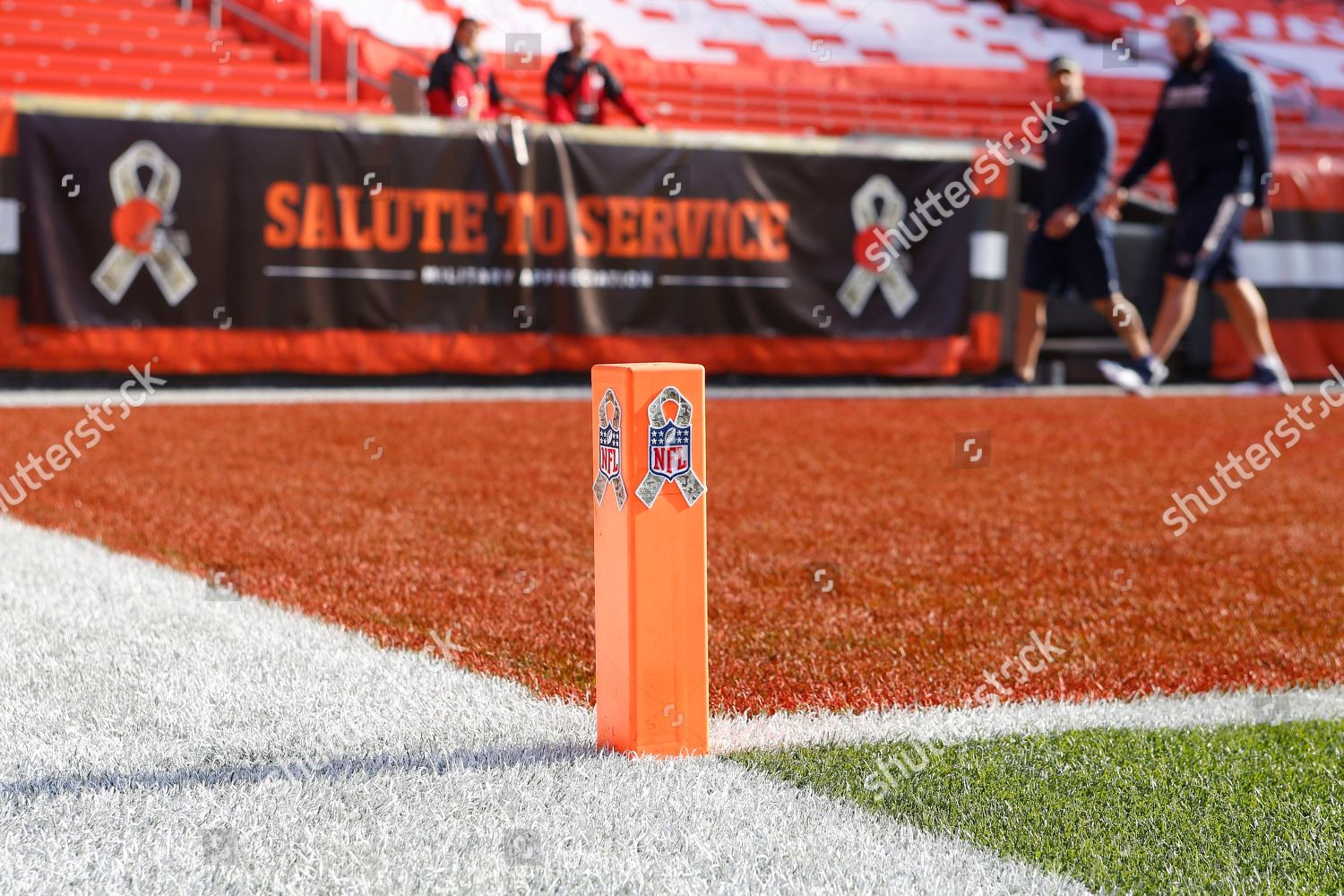 promo code ed333 b5de9 Salute Service ribbon displayed on End Zone Editorial Stock ...