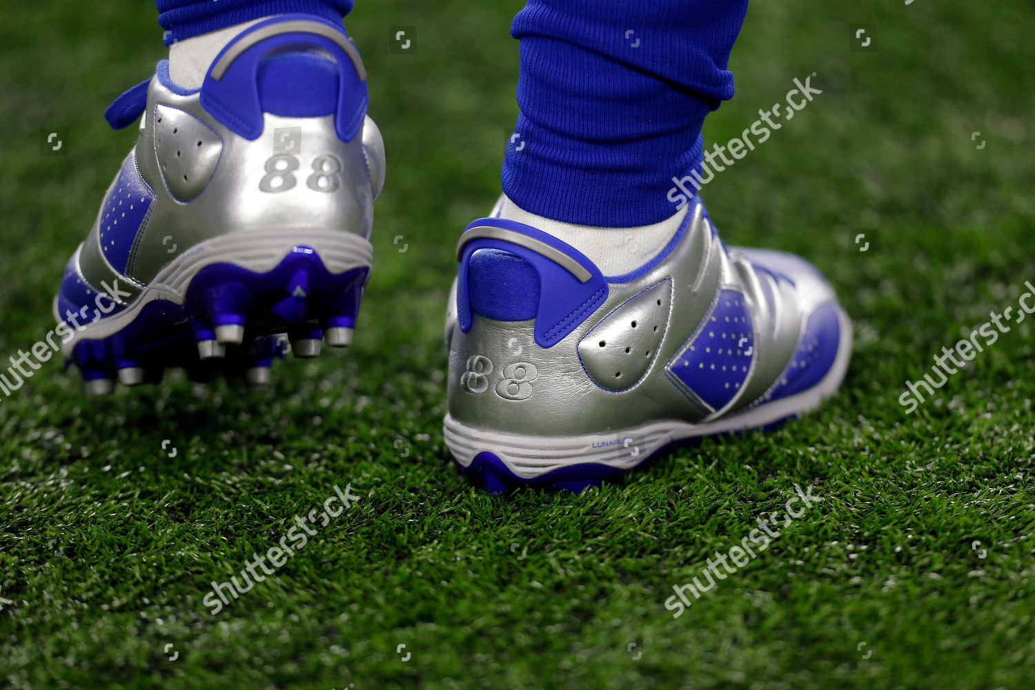 Dallas Cowboys Dez Bryant Cleats Focused On Editorial Stock