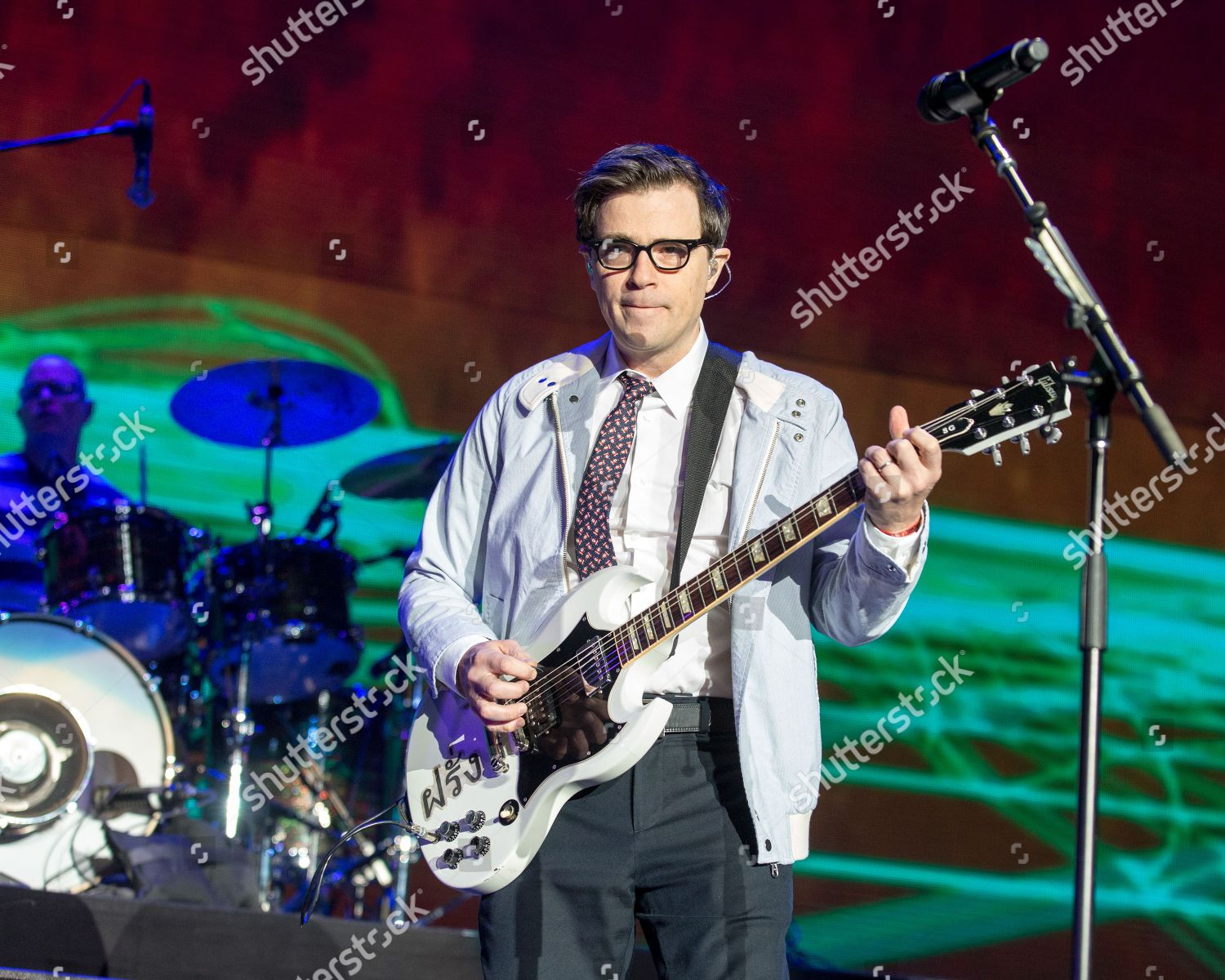 Weezer Christmas.Weezer Rivers Cuomo Editorial Stock Photo Stock Image