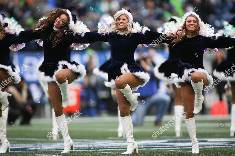 Seattle Seahawks Cheerleaders Seagals Perform Before Game