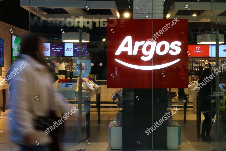 527977d1 Shoppers walk past Argos store Westfield Stratford Editorial Stock ...