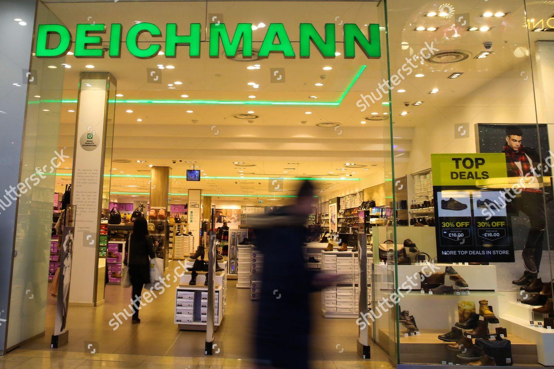 5c331d19 Shoppers walk past Deichmann store Westfield Stratford Editorial ...