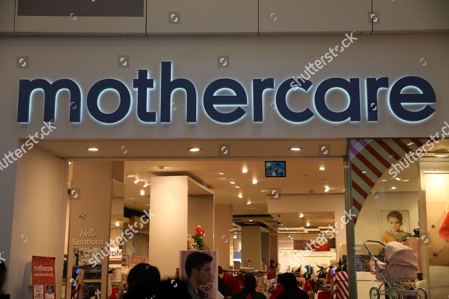 59410e37 Shoppers walk past Mothercare store Westfield Stratford Editorial ...