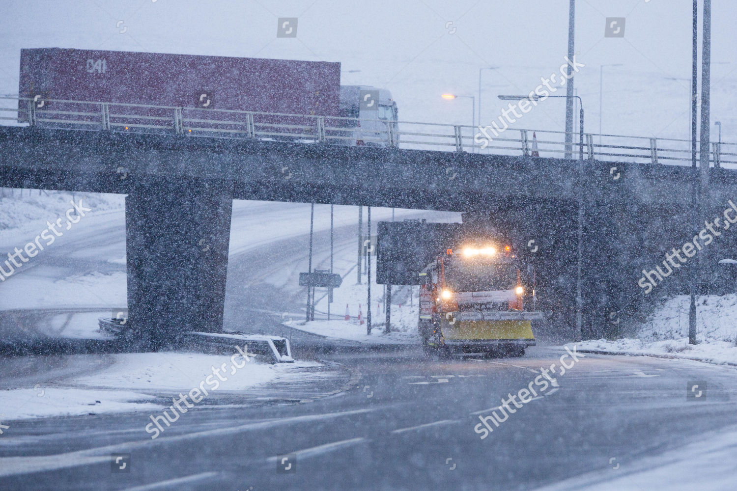 Winter weather Greater Manchester snow causes difficult