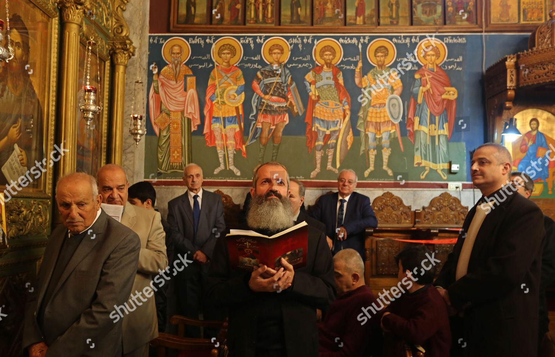 Greek Orthodox Christmas.Palestinian Greek Orthodox Christians Attend Christmas Mass