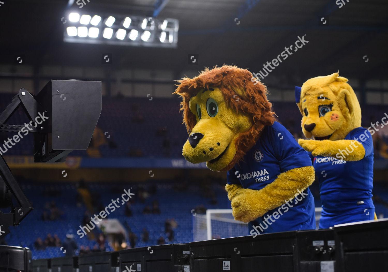 Chelsea Mascots Play Around Var Editorial Stock Photo