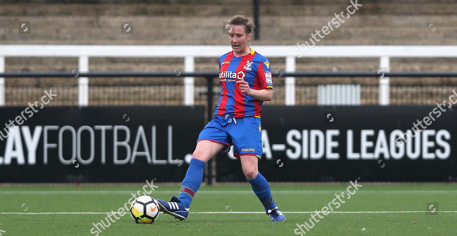 Sarah Jones Crystal Palace Ladies on ball Editorial Stock Photo