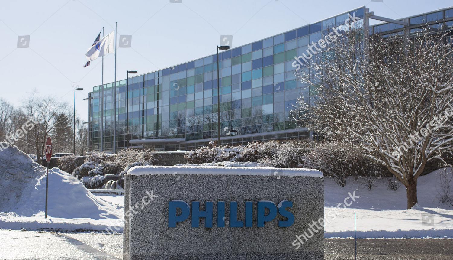 view on Philips North American headquarters Andover