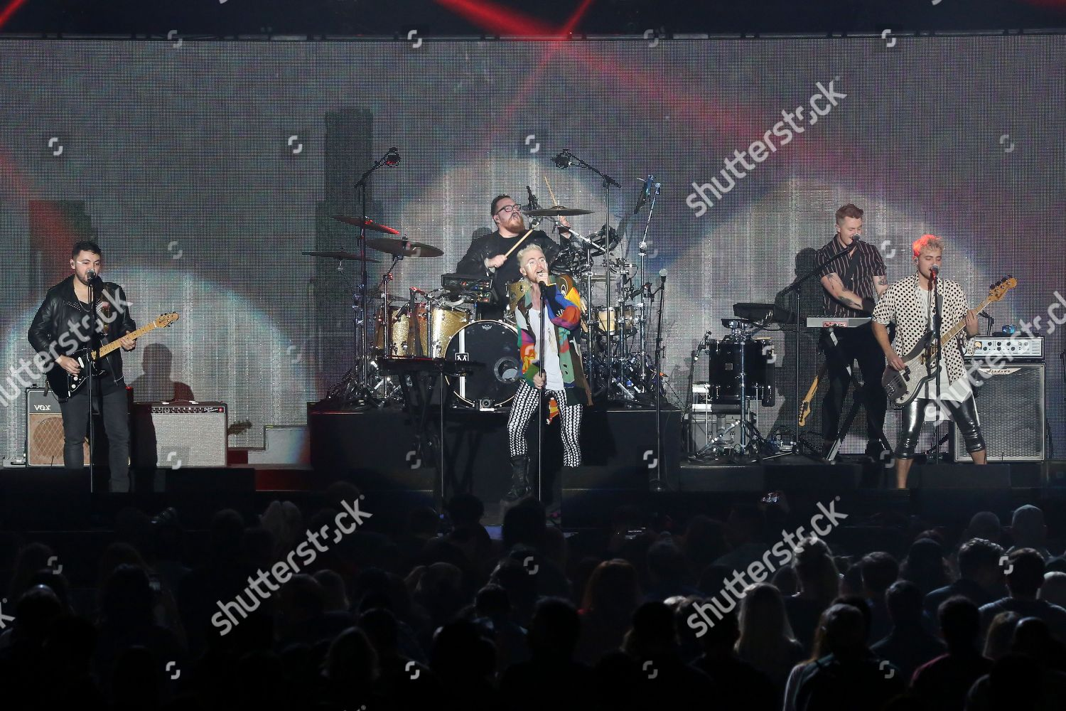 Rock band Walk Moon perform on stage Editorial Stock Photo