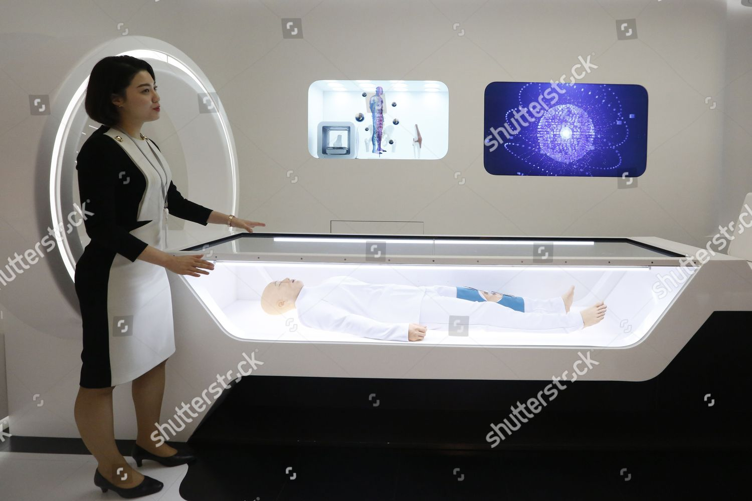employee SK Telecom introduces Medical room Future Editorial Stock