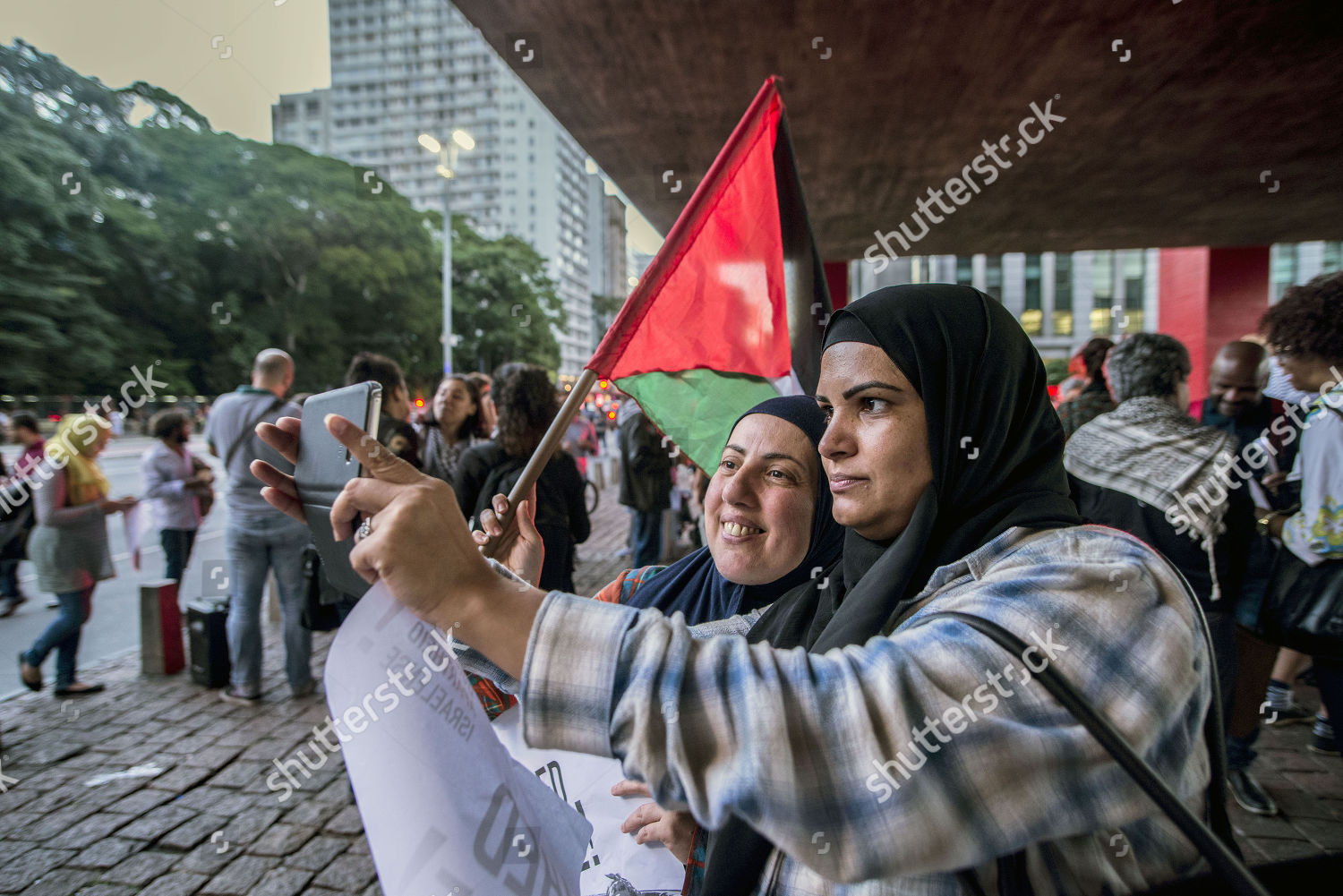 hundred activists gathered solidarity Ahed Tamimi young Photos