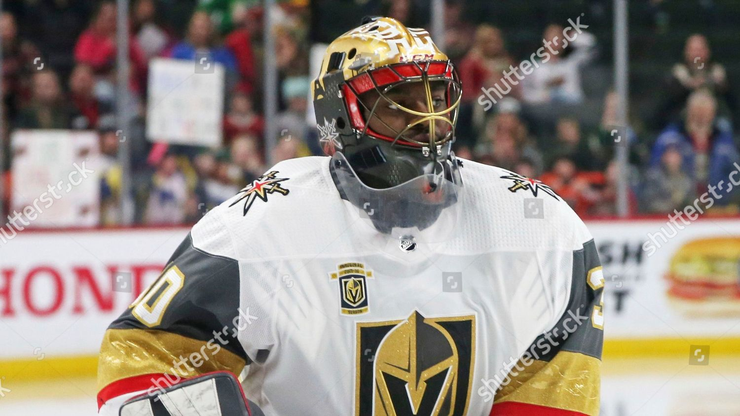Vegas Golden Knights Goaltender Malcolm Subban Warms Editorial Stock