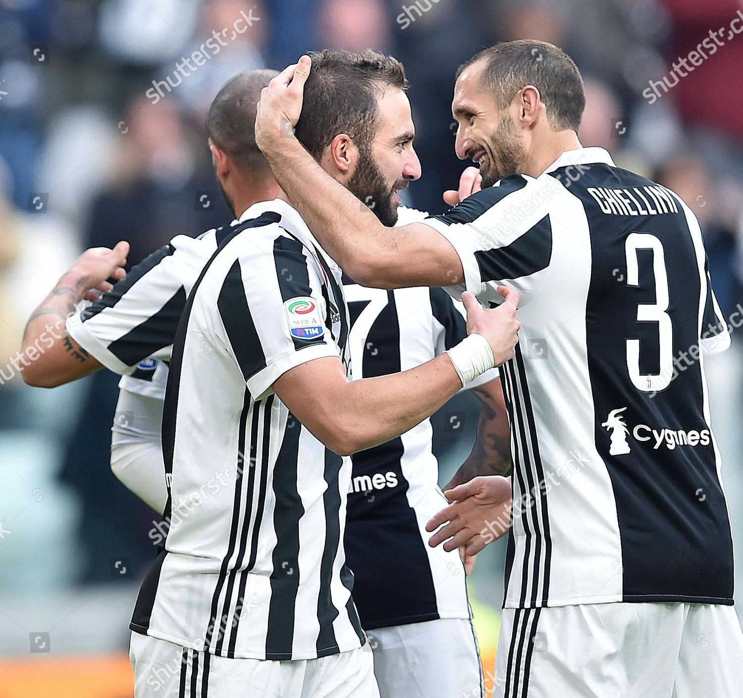 ef459121be4 Juventus Gonzalo Higuain L celebrates team mate Editorial Stock ...