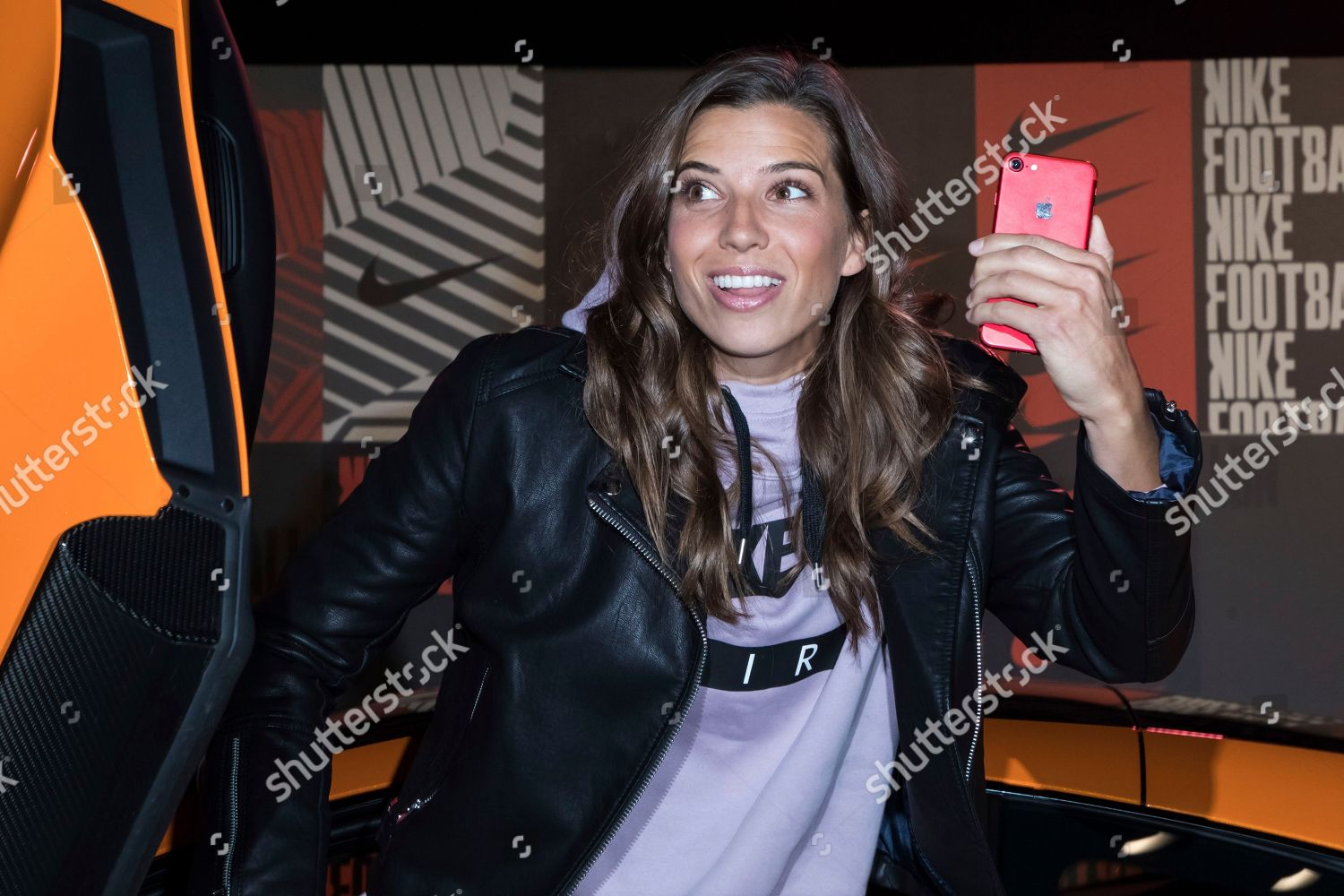 new styles 8ad71 eb8ca Tobin Heath poses photographers upon arrival Nike Editorial ...