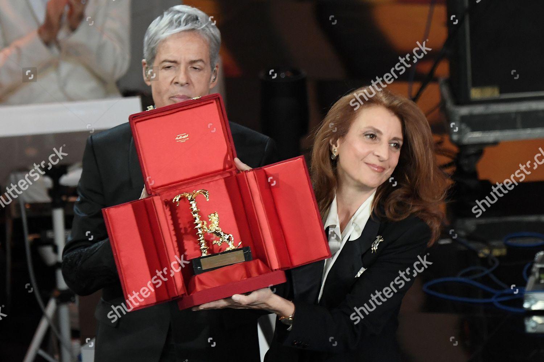 Claudio Baglioni Martina Corgnati Redaktionelles Stockfoto – Stockbild