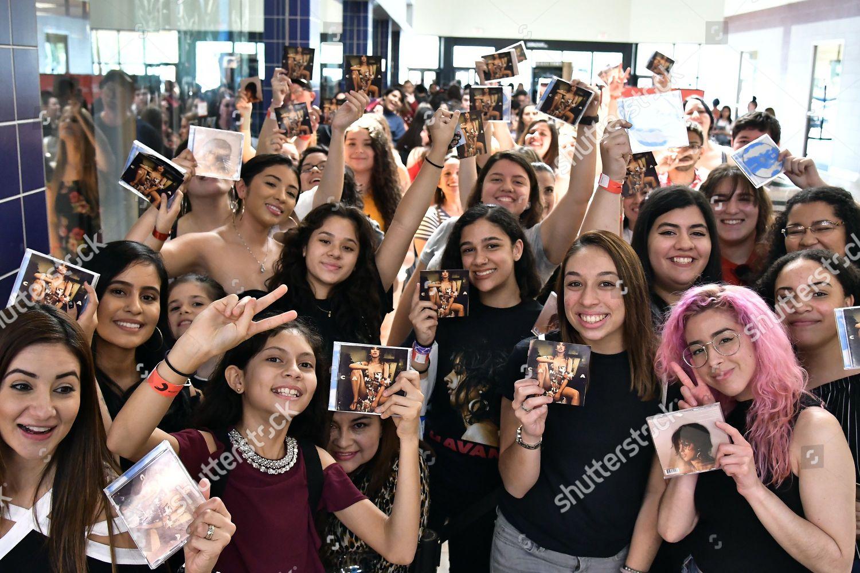 Camila Cabello Meets Greets Fans Coral Square Editorial Stock Photo