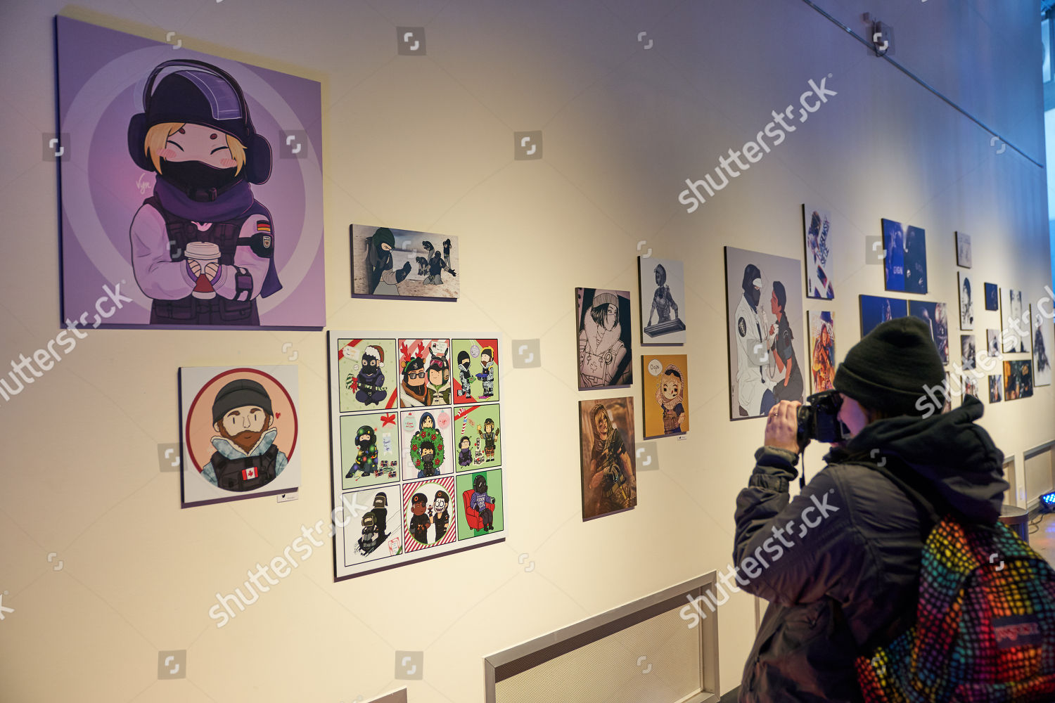 fan takes picture art Rainbow Six Siege Editorial Stock