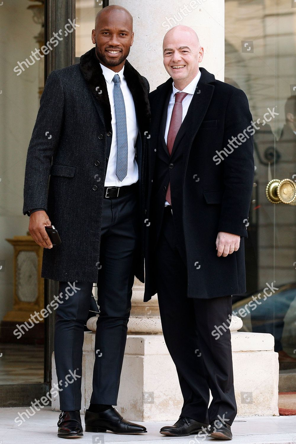 ¿Cuánto mide Didier Drogba? - Real height New-liberian-president-george-weah-in-paris-france-shutterstock-editorial-9433877k