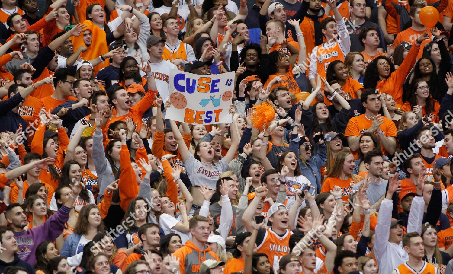 Syracuse Fans Cheer Late Second Half Ncaa Editorial Stock