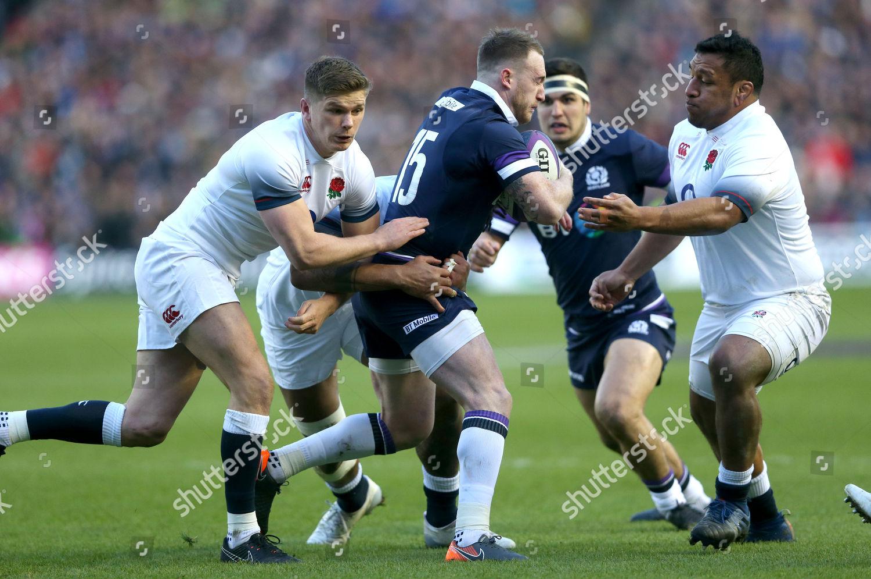 12ea622440e Stock photo of Scotland v England, Rugby Union, NatWest 6 Nations,  Murrayfield Stadium