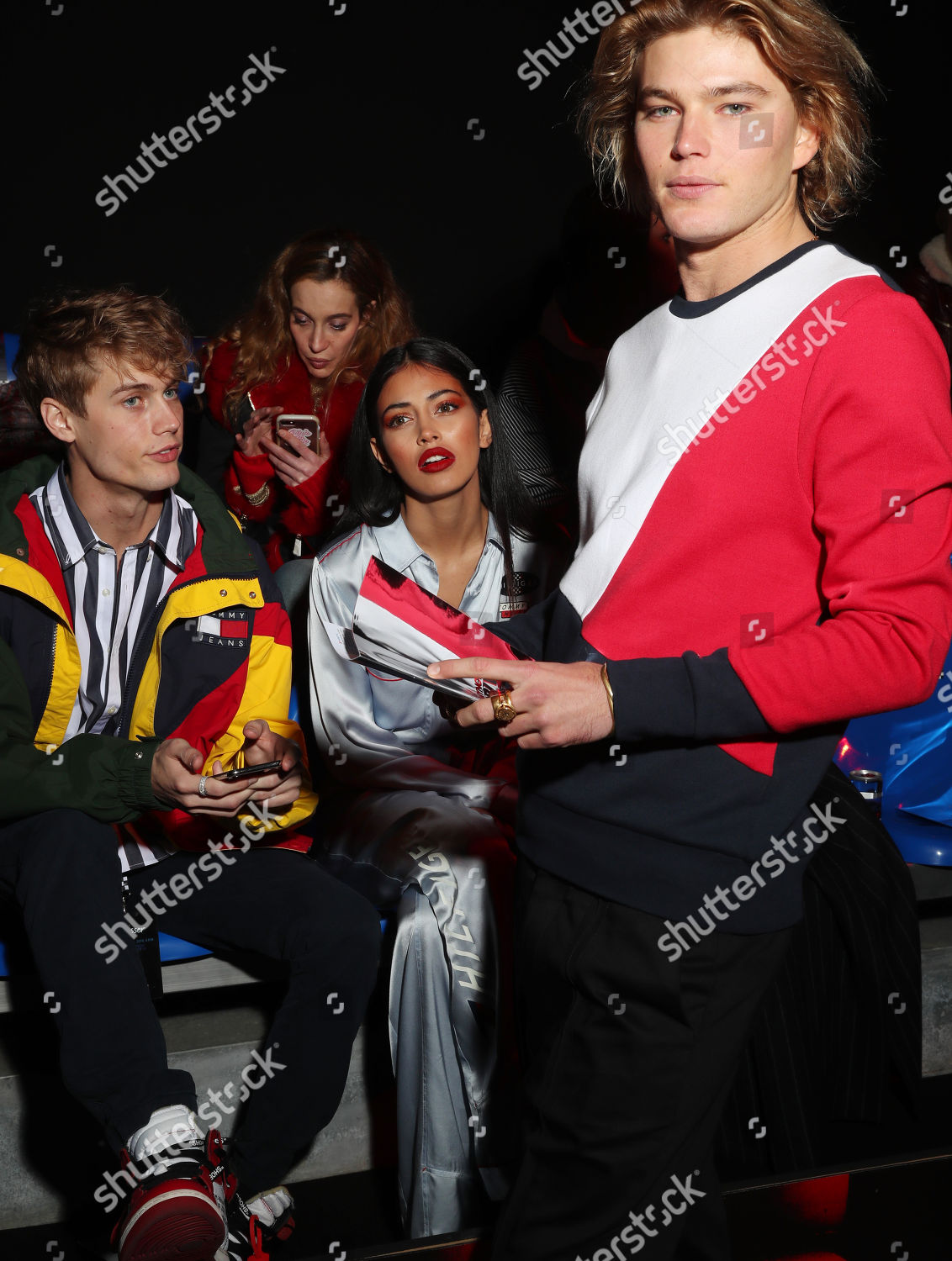 ee16eb4b Tommy Hilfiger show, Front Row, Spring Summer 2018, Milan Fashion Week,  Italy Stock Image by Shutterstock for editorial use, Feb 25, 2018