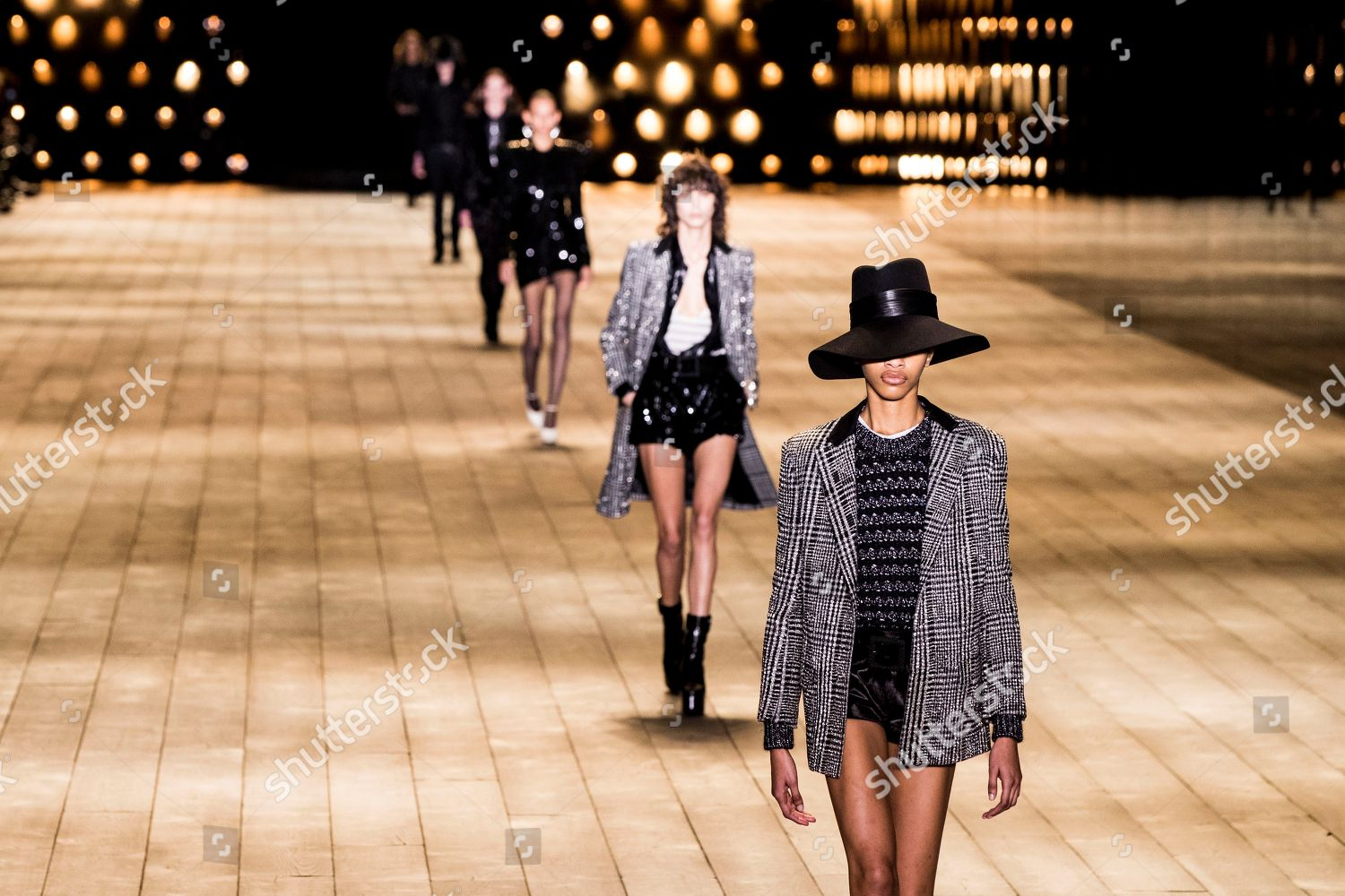 b3943180d23 Stock photo of Yves Saint Laurent - Runway - Paris Fashion Week Ready to  Wear F