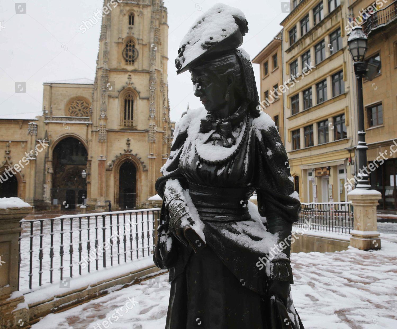 Snow in Asturias, Oviedo, Spain Stock Image by Jlcereijido for editorial  use, Feb 28, 2018