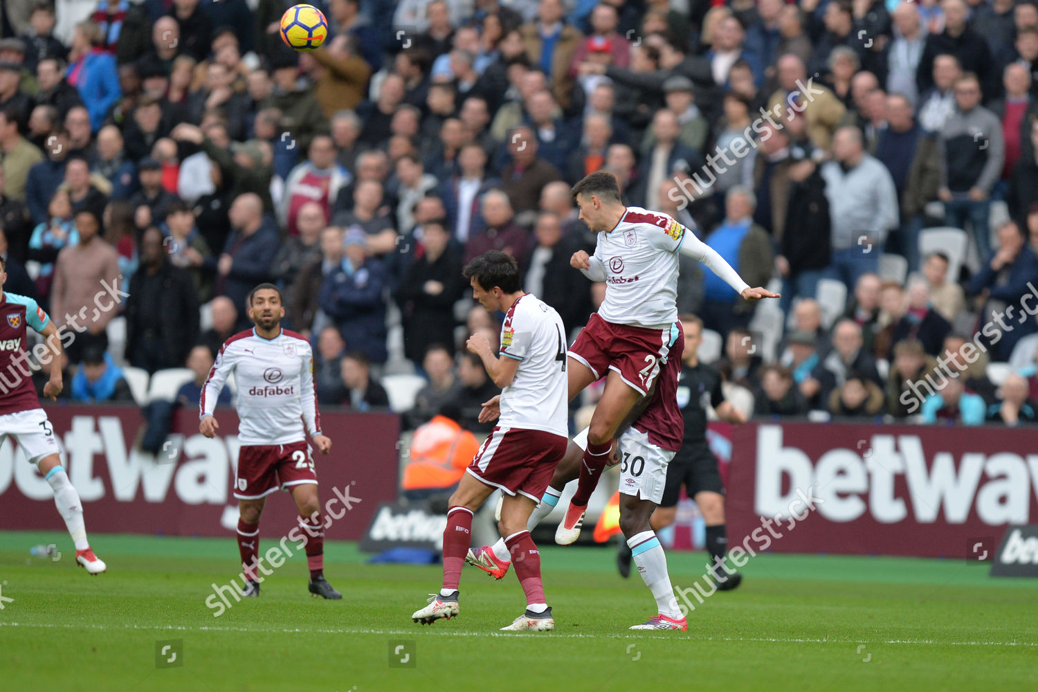 Matthew Lowton Burnley Heads Clear During West Editorial Stock Photo Stock Image Shutterstock